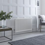 Milano Windsor - Traditional 22 x 2 Column Radiator Cast Iron Style White 600mm x 1013mm