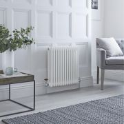Milano Windsor - Traditional 13 x 3 Column Radiator Cast Iron Style White 600mm x 600mm