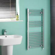 Kudox Chrome Flat Standard Electric Towel Rail 500mm x 1000mm