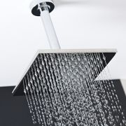 Milano 200mm Square Shower Head and 150mm Ceiling Arm