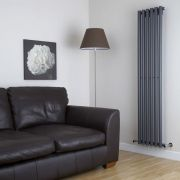 Milano Java - Anthracite Vertical Round Tube Designer Radiator 1780mm x 360mm