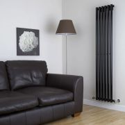 Milano Java - High-Gloss Black Vertical Round Tube Designer Radiator 1780mm x 360mm
