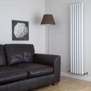 Milano Java - White Vertical Round Tube Designer Radiator 1780mm x 360mm