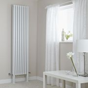 Milano Aruba Plus - White Vertical Designer Radiator with Feet 2000mm x 472mm (Double Panel)