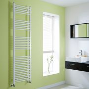 Milano Flat White Heated Towel Rail 1800mm x 500mm