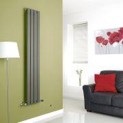 Milano Anthracite Vertical Single Slim Panel Designer Radiator 1600mm x 280mm