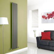 Milano Anthracite Vertical Single Slim Panel Designer Radiator 1780mm x 280mm