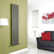 Milano Anthracite Vertical Single Slim Panel Designer Radiator 1600mm x 350mm