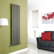 Milano Anthracite Vertical Single Slim Panel Designer Radiator 1600mm x 420mm