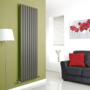 Milano Anthracite Vertical Single Slim Panel Designer Radiator 1780mm x 560mm