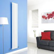 Milano White Vertical Single Slim Panel Designer Radiator 1780mm x 280mm