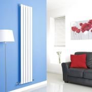 Milano White Vertical Single Slim Panel Designer Radiator 1780mm x 350mm