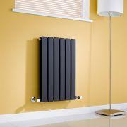 Milano Alpha - Gloss Black Horizontal Double Slim Panel Designer Radiator 635mm x 420mm