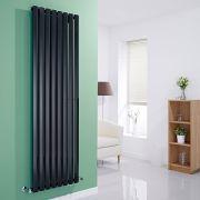 Milano Viti - Gloss Black Vertical Diamond Panel Designer Radiator 1780mm x 560mm