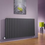 Milano Capri - Anthracite Horizontal Flat Panel Electric Designer Radiator 635mm x 1180mm