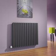 Milano Capri - Anthracite Horizontal Flat Panel Electric Designer Radiator 635mm x 834mm