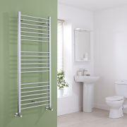 Milano Eco - Flat Chrome Heated Towel Rail 1400mm x 600mm