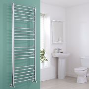 Milano Eco - Curved Chrome Heated Towel Rail 1600mm x 600mm