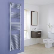 Milano Ribble Electric - Flat Chrome Heated Towel Rail 1800mm x 500mm