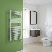Milano Calder Electric - Flat White Heated Towel Rail 1200mm x 600mm