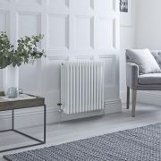 Milano Windsor - Traditional White 4 Column Radiator 600mm x 585mm (Horizontal)