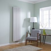 Milano Aruba Flow - White Vertical Double Panel Middle Connection Designer Radiator 1780 x 472mm