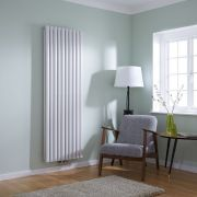 Milano Aruba Flow - White Vertical Double Panel Middle Connection Designer Radiator 1780 x 590mm