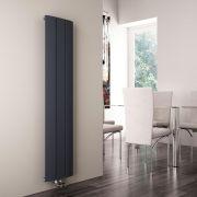 Milano Skye - Aluminium Anthracite Vertical Designer Radiator 1600mm x 280mm
