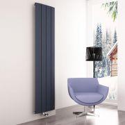 Milano Skye - Aluminium Anthracite Vertical Designer Radiator 1800mm x 375mm