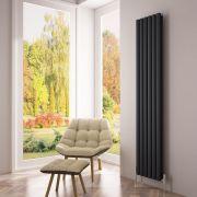 Milano Aruba Ayre - Aluminium Anthracite Vertical Designer Radiator 1800 x 350