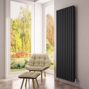 Milano Aruba Ayre - Aluminium Anthracite Vertical Designer Radiator 1800 x 590