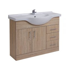 Milano Classic Oak 1050mm Vanity Unit