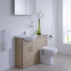Milano Classic Oak 1040mm Combination Unit WC Option 1