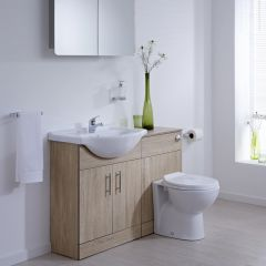 Milano Classic Oak 1140mm Combination Unit WC Option 1