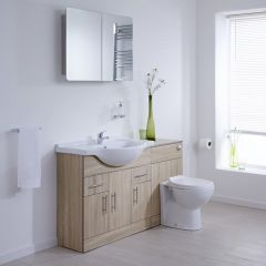 Milano Classic Oak 1340mm Combination Unit WC Option 1