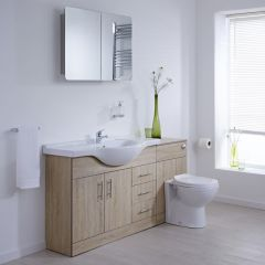 Milano Classic Oak 1540mm Combination Unit WC Option 1