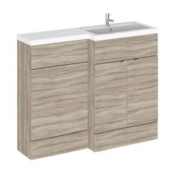 Hudson Reed 1100mm Driftwood WC Combination Unit Right Hand