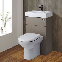 Milano 2-in-1 Toilet & Basin Combination Unit Stone Grey