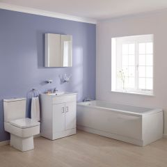 Premier Bliss 1700mm Square Vanity Bathroom Suite