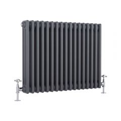 Milano Windsor - Traditional Anthracite 3 Column Radiator 600mm x 765mm (Horizontal)