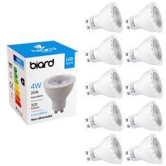 Biard Spotlight 4W GU10 LED x10