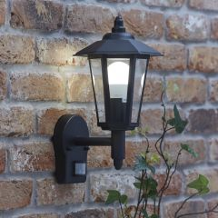 Biard Cannes Outdoor Wall Lantern with PIR - Black