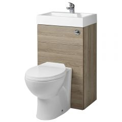 Milano Oak Combination Toilet & Basin Unit