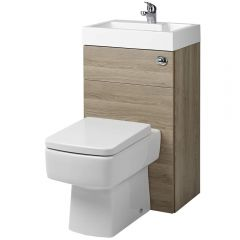 Milano Bliss Oak Combination Toilet & Basin Unit