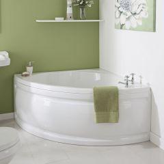 Milano 1200mm Corner Bath and Panel