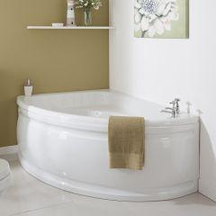 Milano 1500 x 1020mm Corner Bath Left Hand and Panel