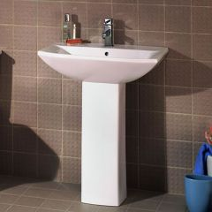 Premier Asselby 600mm Basin and Pedestal
