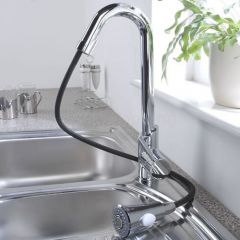 Milano Chrome Pull Out Kitchen Tap
