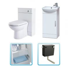 Milano Vanity Unit and Toilet Cloakroom Pack