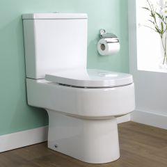 Milano Ballam Semi Flush Toilet Pan, Cistern & Soft Close Seat